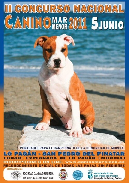Cartel Concurso Canino Mar Menor